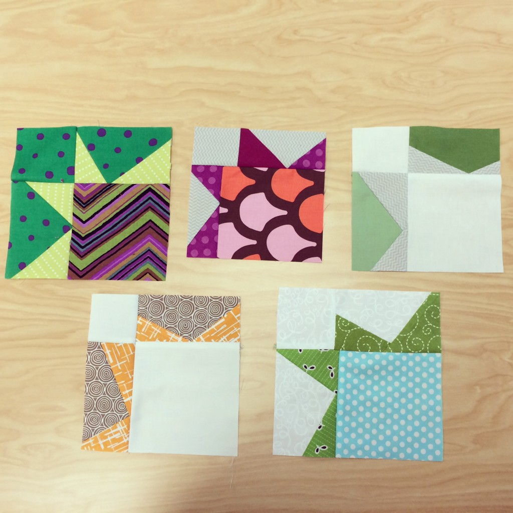 January 2014 Sew Day Modern Sawtooth Star Quilt Blocks