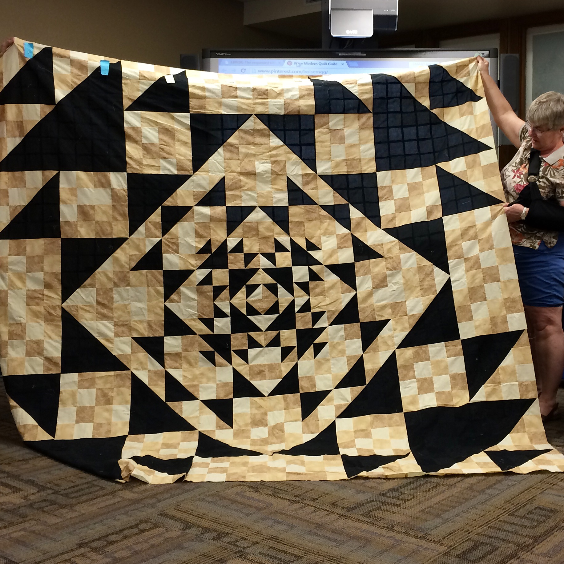 Nancy England-black brown quilt