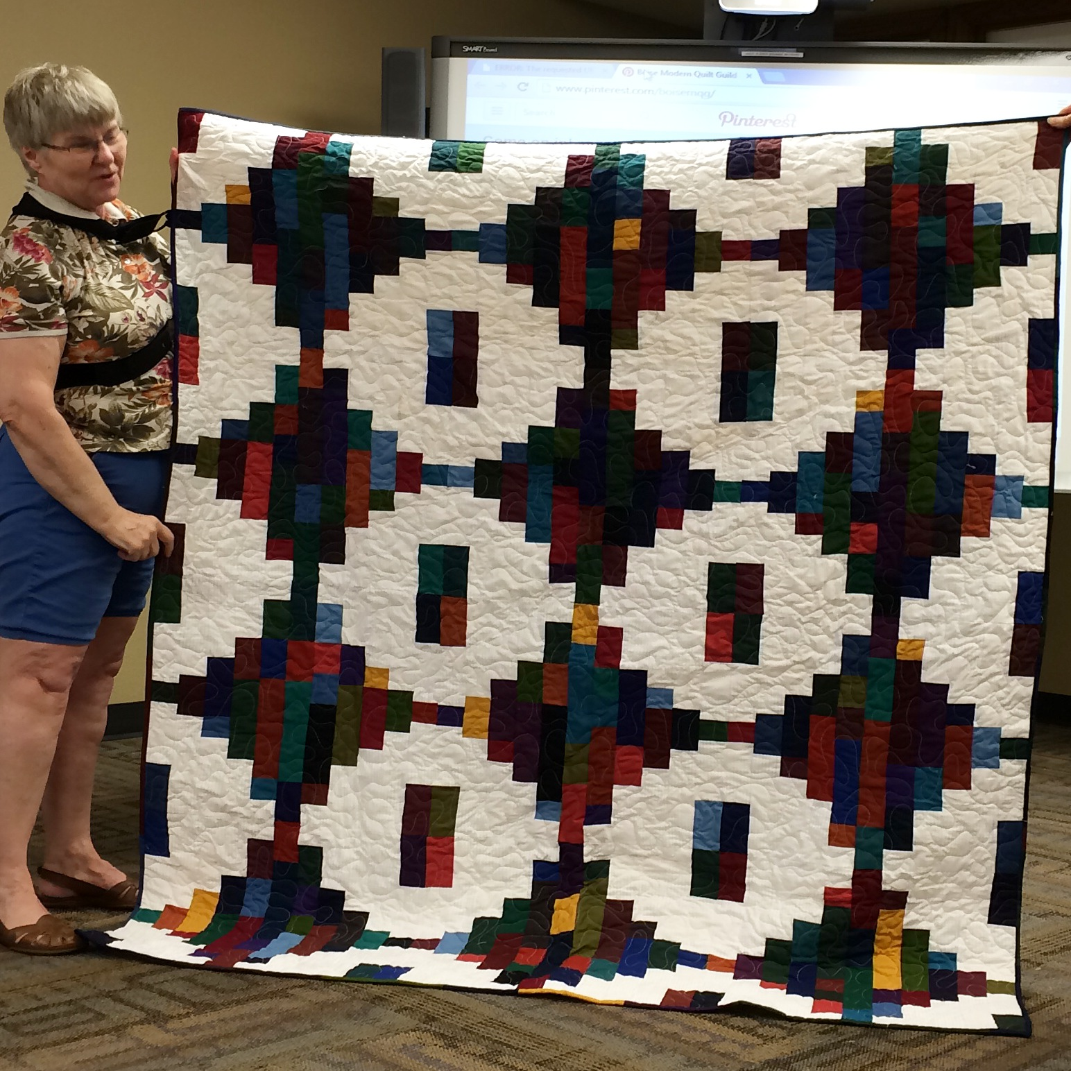 Nancy England-colorful quilt