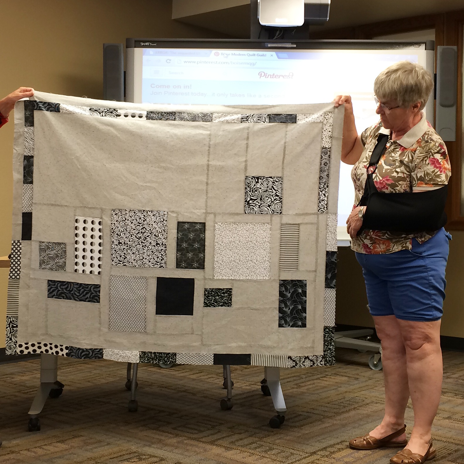 Nancy England-gray quilt