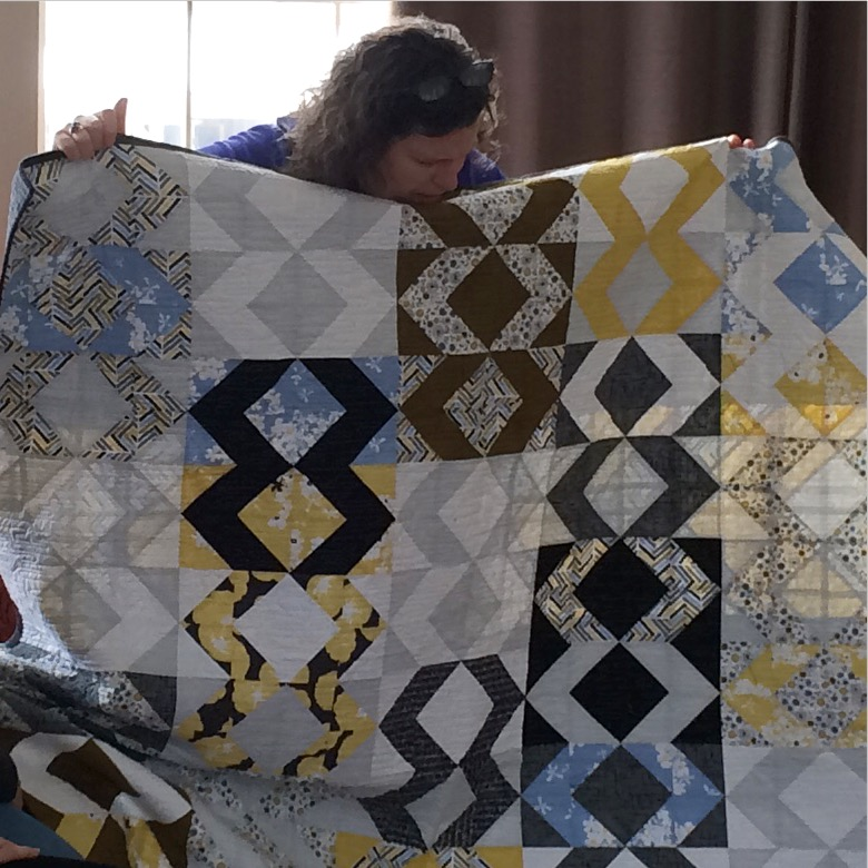 Tracy Quilt Yellow Blue